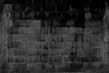 Texture of cement wall from Brick with structure of pole beside.