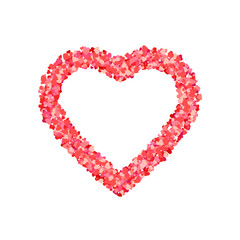 Heart shape of red hearts