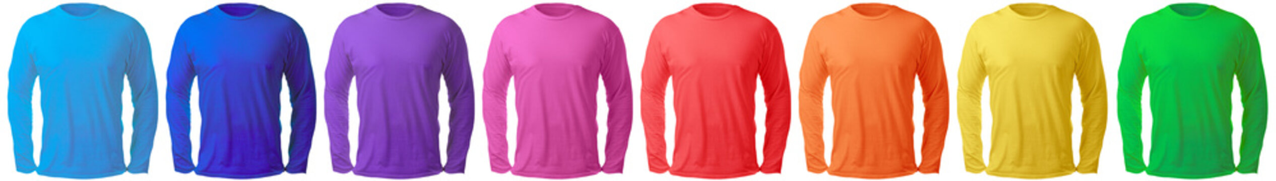 Long Sleeved Shirt Design Template in Many Color