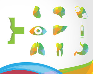 Medical infographics. Presentation set