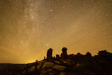 Starscape above Arches National Park, Utah