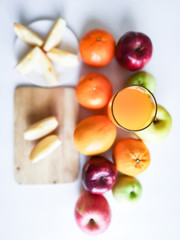 Fruit and orange juice as an healthy food