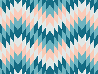 Abstract geometric zig zag hipster fashion hexagon pattern, rhombuses pattern muti color background Wall mural