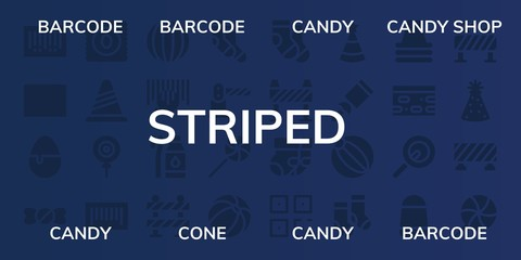 striped icon set