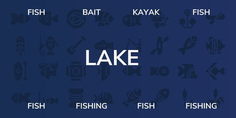 lake icon set