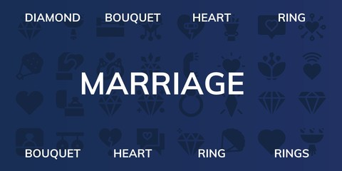 marriage icon set