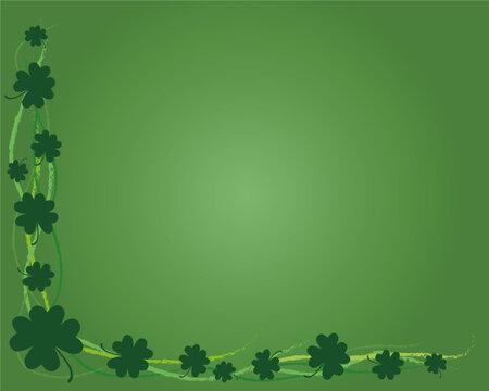 St Patty-Green Shamrock Grunge Background