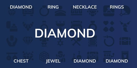 diamond icon set