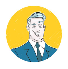 Business Man Character Profile Picture