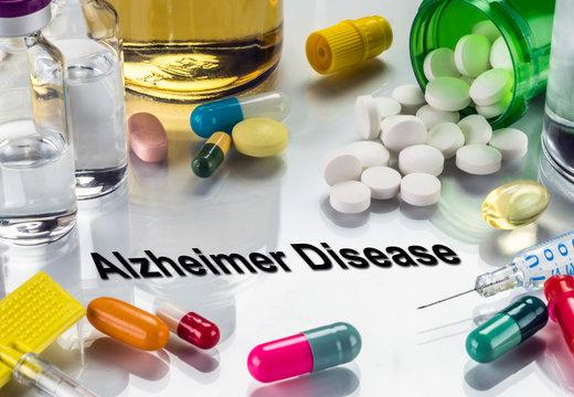 Medical diagnosis alzheimer disease, conceptual image, horizontal composition