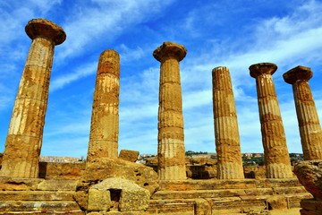 park of the valley of the temples temple of Ercole Agrigento Sicily Italy