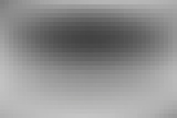 Vector greyscale blurred horizontal cover. Monochrome defocused black and white unfocused tiles banner. Gray scale gradient mosaic background. Grey or silver abstract blurry checked illustration.