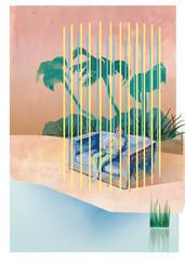Einsame Insel Gefängnis im Paradis