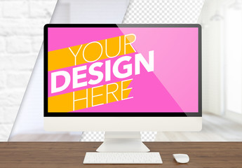 Desktop Monitor Mockup