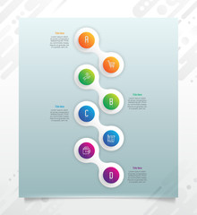 Chart infographic vector design with modern style and 4 options for business.Option infographic can be used for finance, presentation, marketing, and brochure.