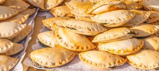 Fried empanadas typical of the Argentine countryside gastronomy Wall mural