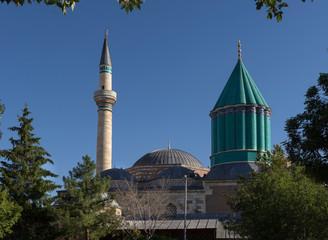 Mevlana Celaddiin-i Rumi Mosque and Tomb in Konya, Turkey