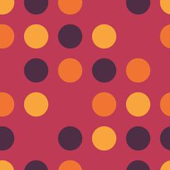 Feminine polka dots background. Dots Seamless Vector Pattern. Skipped circles pink, purple, gold, yellow, orange. For Home Decor, Feminine Fashion Prints, Cute Wallpaper, Girl Apparel Textiles