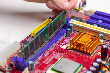 Installing RAM on the motherboard