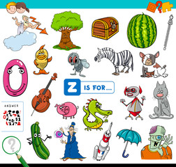 Z is for educational game for children