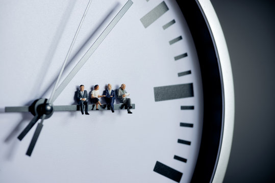 Project management, team work and time management concept