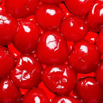 Close Up of Maraschino Cherries