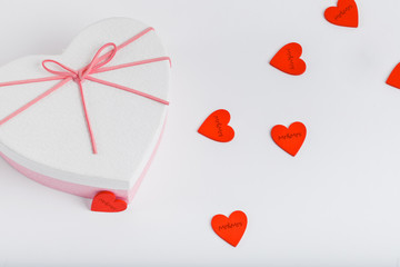 Print cards, banner, poster.  Valentines Day background with hearts.
