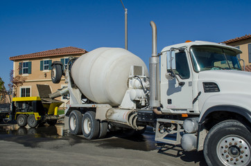 Cement Truck Ready to Pour Concrete