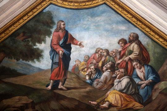 Le sermon de Jésus-Christ sur la montagne. Collègiale Saint-Jacques-le-Majeur. Sallanches. / Sermon on the Mount. Saint James's collegiate church. Sallanches.
