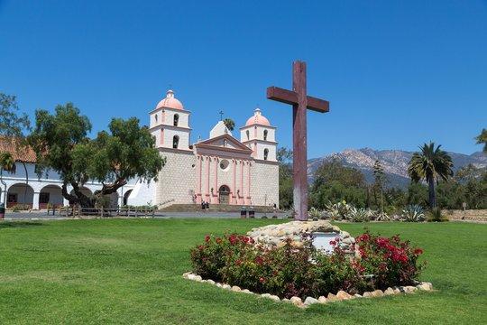 Old Mission, Santa Barbara, California, USA, North America