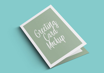 Four Greeting Card Mockups