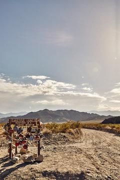 teakettle junction, death valley national park, California, vertical