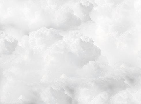 white fluffy cumulus clouds full flame