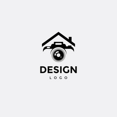 Vector logo design, photography icon and home