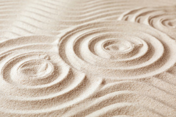 Printed roller blinds Zen Zen garden pattern on sand. Meditation and harmony