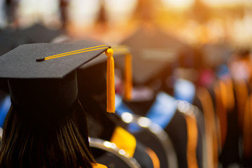 Graduates in graduation ceremony