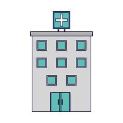 Hospital building symbol