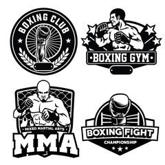 badge boxing club set