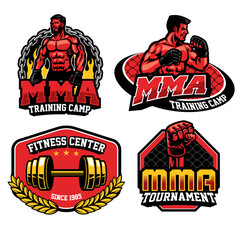 mma training design badge