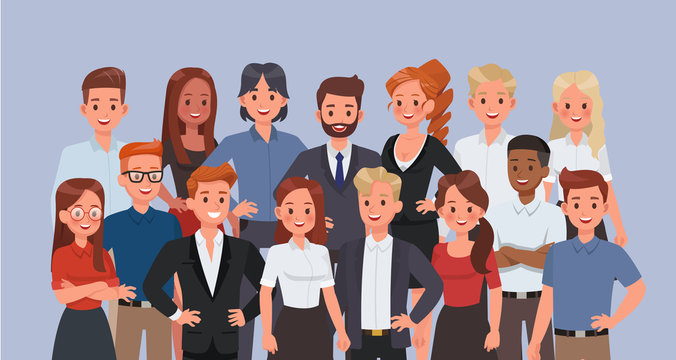 Business people working in office character vector design. no9