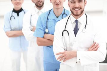closeup.a group of doctors.