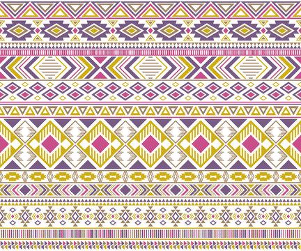 Tribal ethnic motifs geometric vector seamless background.