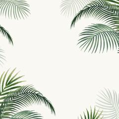 Palm leaves mockup illustration