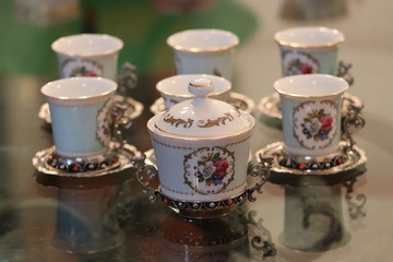 Vintage Tazzine da caffè  Limoges 1960s