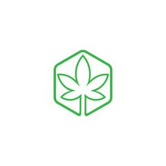 Creative marijuana health medical cannabis vector designs. Cannabis Leaf Line Art Logo design inspiration - Vector