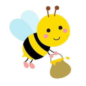 Honey bees carrying honey