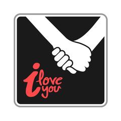 hands in love illustration