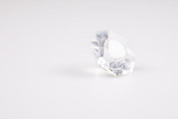 diamond crystal brilliant under white background