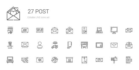 post icons set