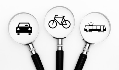 Auto Fahrrad oder Bahn